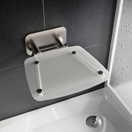 Ravak Ovo B II Siedzisko prysznicowe stal nierdzewna/przezroczyste B8F0000051