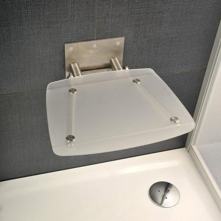Ravak OVO-B Siedzisko Clear 36x36 cm, stalowy, przezroczysty B8F0000015