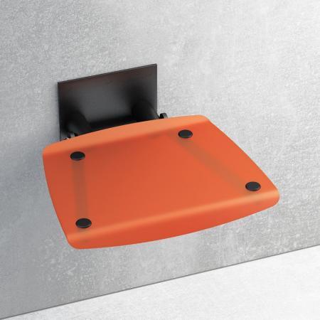 Ravak OVO-B Siedzisko Orange/Black, czarny, pomarańczowy B8F0000047