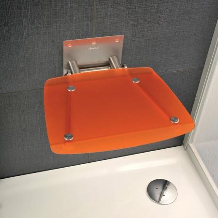 Ravak OVO-B Siedzisko Orange 36x36 cm, stalowy, pomarańczowy B8F0000017