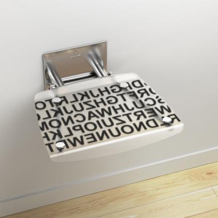 Ravak OVO-B Siedzisko Text 36x36 cm, stalowy B8F0000030
