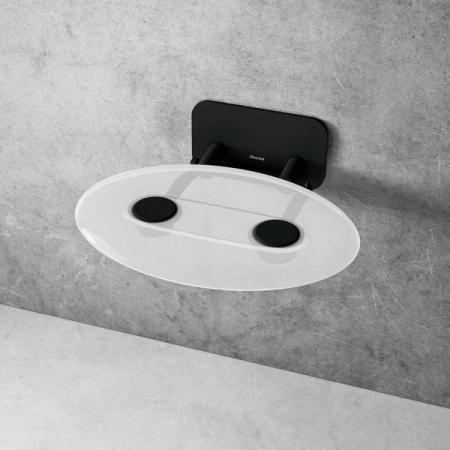 Ravak Ovo P II Siedzisko prysznicowe czarne/przezroczyste B8F0000056