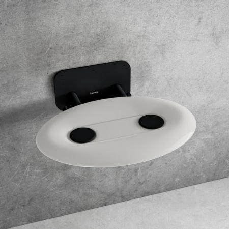 Ravak Ovo P II Siedzisko prysznicowe czarne/białe B8F0000057