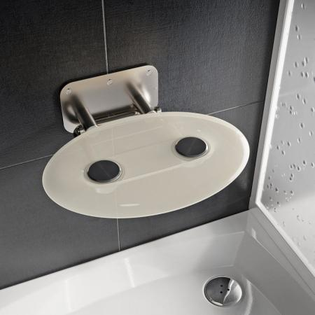 Ravak Ovo P II Siedzisko prysznicowe stal nierdzewna/przezroczyste B8F0000048