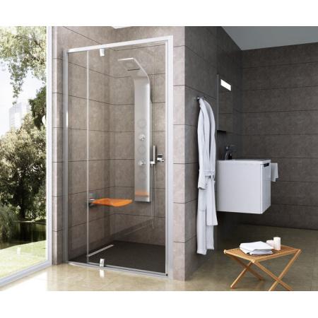 Ravak Pivot PDOP Drzwi prysznicowe 110x190 cm z powłoką AntiCalc, profile aluminium szkło przezroczyste 03GD0C00Z1