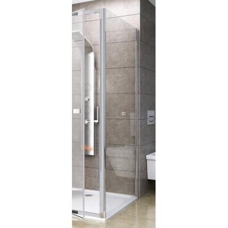 Ravak Pivot PPS-80 Ścianka prysznicowa stała 80x190 cm z powłoką AntiCalc, profile aluminium szkło przezroczyste 90G40C00Z1