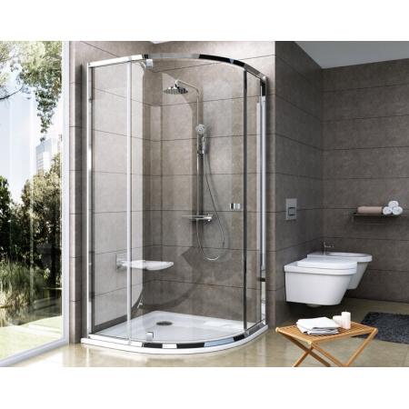 Ravak Pivot PSKK3 Kabina prysznicowa półokrągła 100x100x190 cm z powłoką AntiCalc, profile aluminium szkło przezroczyste 376AAC00Z1