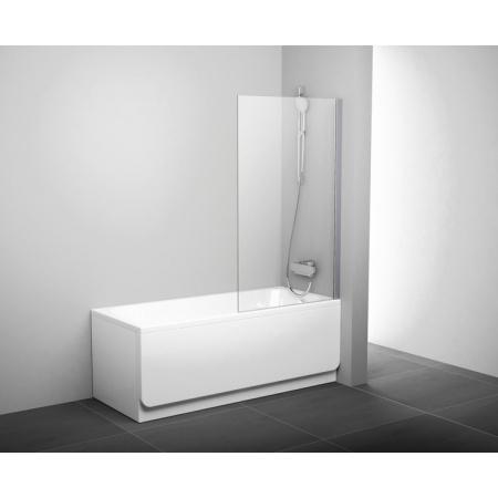 Ravak Pivot Parawan nawannowy 80x140 cm z powłoką AntiCalc, profile aluminium szkło przezroczyste 79840C00Z1