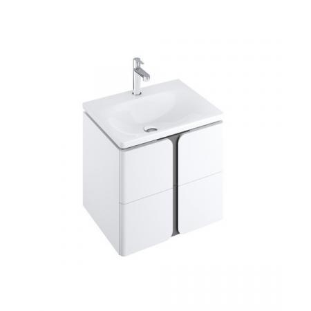 Ravak SD Balance Szafka podumywalkowa 50x46,5x50 cm biała/grafitowa X000001365