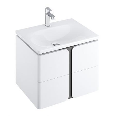 Ravak SD Balance Szafka podumywalkowa 60x46,5x50 cm biała/grafitowa X000001367
