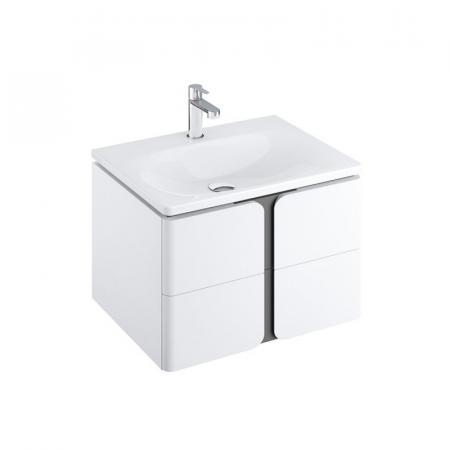 Ravak SD Balance Szafka podumywalkowa 80x46,5x50 cm biała/grafitowa X000001369