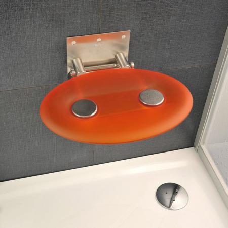 Ravak OVO-P Siedzisko Orange 41x35 cm, stalowy, pomarańczowy B8F0000005