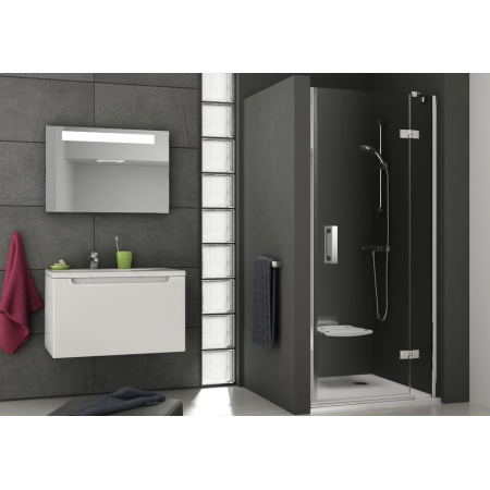 Ravak SmartLine SMSD2 Drzwi prysznicowe 90x190 cm z powłoką AntiCalc prawa, profile chrom szkło przezroczyste 0SP7AA00Z1
