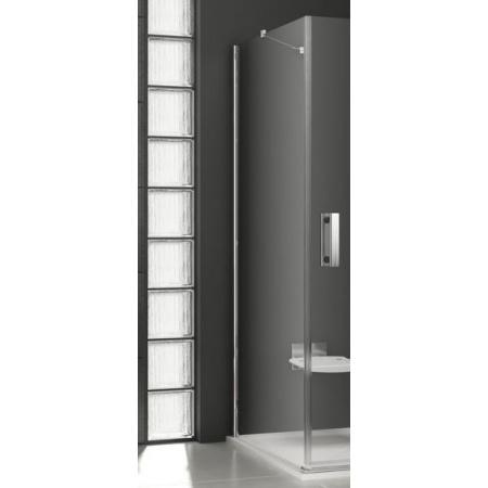 Ravak SmartLine SMPS-80 L Ścianka prysznicowa stała 80x190 cm z powłoką AntiCalc lewa, profile chrom szkło przezroczyste 9SL40A00Z1