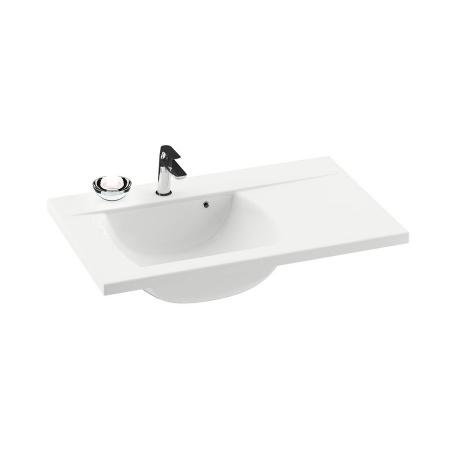 Ravak Classic Umywalka wisząca 80x49x18 cm z blatem po lewej stronie, biała XJDL1180000
