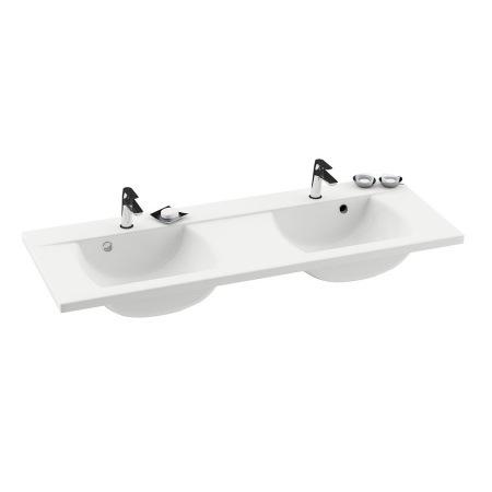 Ravak Classic Umywalka wisząca 130x49x18 cm podwójna, biała XJD01113000