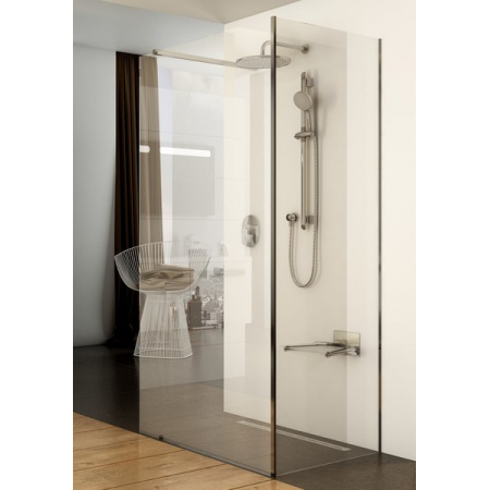 Ravak Walk In Corner Kabina prysznicowa prostokątna 110x80x200 cm z powłoką AntiCalc, profile aluminium szkło przezroczyste GW1CD4C00Z1