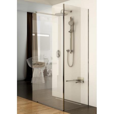 Ravak Walk In Corner Kabina prysznicowa prostokątna 120x80x200 cm z powłoką AntiCalc, profile aluminium szkło przezroczyste GW1CG4C00Z1