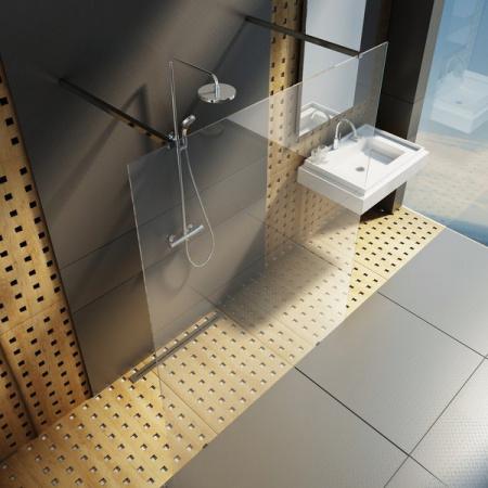 Ravak Walk In Free Kabina prysznicowa prostokątna 140x200 cm z powłoką AntiCalc, profile aluminium szkło przezroczyste GW9FM0C00Z1