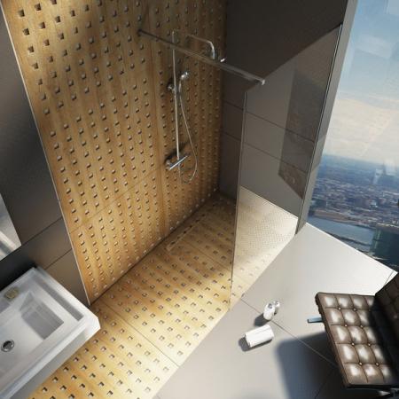 Ravak Walk In Wall Kabina prysznicowa prostokątna 110x200 cm z powłoką AntiCalc, profile aluminium szkło przezroczyste GW9WD0C00Z1