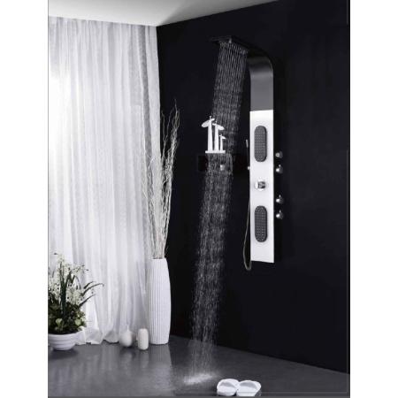 Rea 9779 Panel prysznicowy czarny/biały REA-P0961