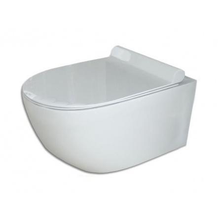 Rea Carter Toaleta WC podwieszana Rimless 48,5x36,5 cm z deską sedesową wolnoopadającą duroplastową, biała REA-C1400