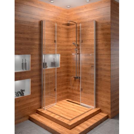 Rea Fold Kabina prysznicowa bez brodzika 90x90 cm, profile chrom, szkło transparent REA-K9991