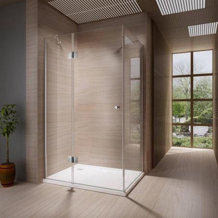 Rea Madox Kabina prysznicowa bez brodzika 90x120 cm, wersja prawa, profile chrom, szkło transparent REA-K1003