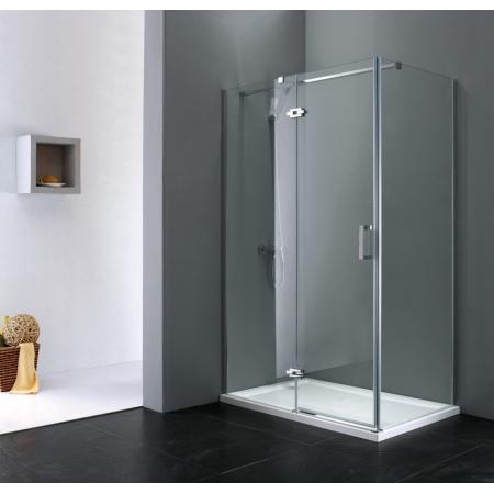 Rea Morgan Kabina prysznicowa bez brodzika 90x120 cm, profile chrom, szkło transparent REA-K7403