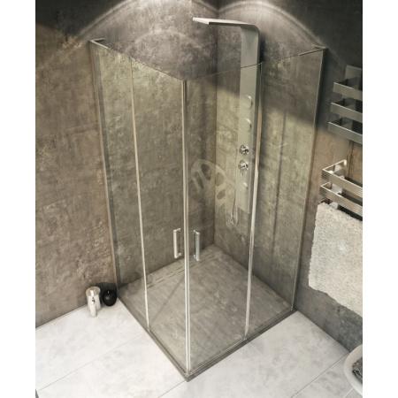 Rea Nelson Kabina prysznicowa bez brodzika 90x90 cm, profile chrom, szkło transparent REA-K1200