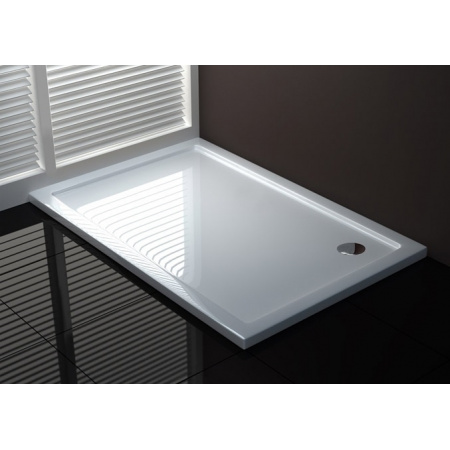 Rea Porta Brodzik prostokątny akrylowy 80x120 cm, wersja lewa, biały REA-K090K
