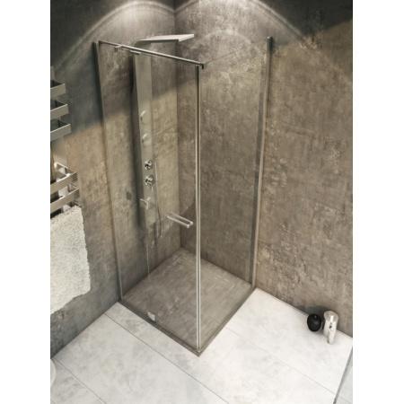 Rea Uno Line Kabina prysznicowa bez brodzika 80x120 cm, wersja prawa, profile chrom, szkło transparent REA-K1205