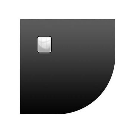 Riho Basel Brodzik półokrągły 90x90x4,5 cm, czarny DC9817