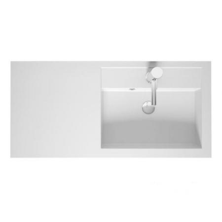 Riho Bologna Umywalka meblowa z półką 100x48 lewa cm biały połysk F7BO1100481111