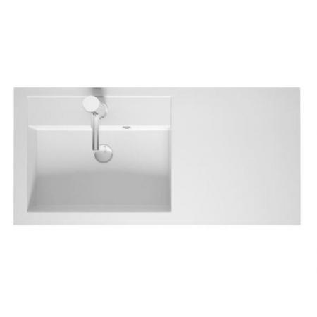 Riho Bologna Umywalka meblowa z półką 100x48 prawa cm biały połysk F7BO1100481112
