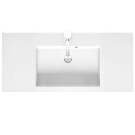 Riho Broni Umywalka meblowa z półką 100x48 cm biały połysk F7BR110048113