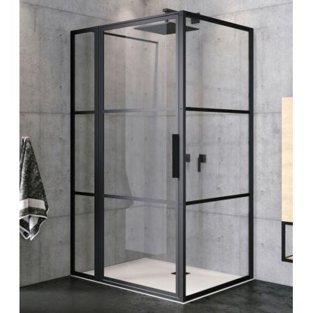 Riho Grid GB203 Kabina prostokątna 110x80x200 cm profile czarny mat szkło przezroczyste GB2110080