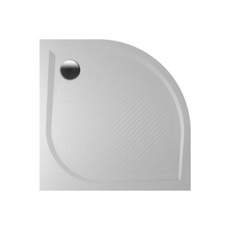 Riho Kolping Brodzik półokrągły 80x80x3 cm marmur syntetyczny, biały DB10