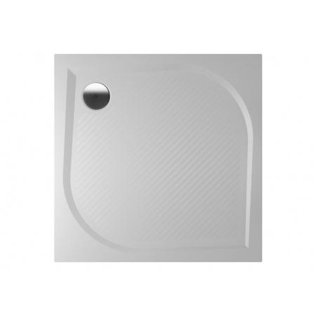 Riho Kolping Brodzik prostokątny 80x80x3 cm marmur syntetyczny, biały DB20