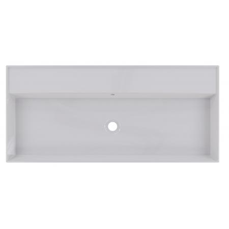 Riho Livit Glaze Top Umywalka wisząca lub meblowa 101x46 cm bez otworu na baterię biała F70009