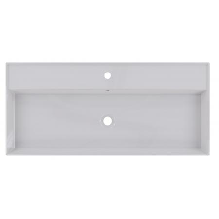 Riho Livit Glaze Top Umywalka wisząca lub meblowa 101x46 cm z 1 otworem na baterię biała F70010D