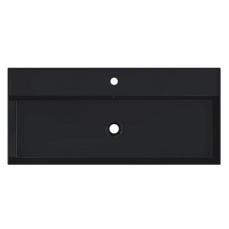 Riho Livit Glaze Top Umywalka wisząca lub meblowa 101x46 cm z 1 otworem na baterię czarny mat F70013