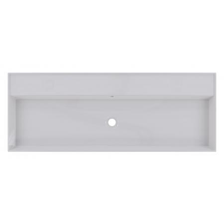 Riho Livit Glaze Top Umywalka wisząca lub meblowa 121x46 cm bez otworów na baterie biała F70015