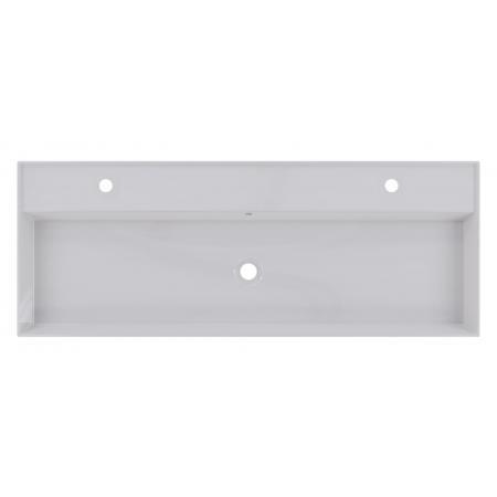 Riho Livit Glaze Top Umywalka wisząca lub meblowa 121x46 cm z 2 otworami na baterie biała F70016