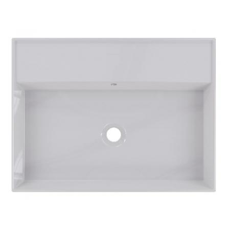 Riho Livit Glaze Top Umywalka wisząca lub meblowa 61x46 cm bez otworu na baterię biała F70001