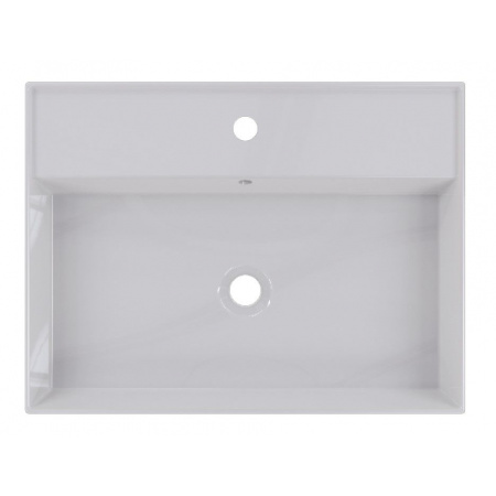 Riho Livit Glaze Top Umywalka wisząca lub meblowa 61x46 cm z otworem na baterię biała F70002