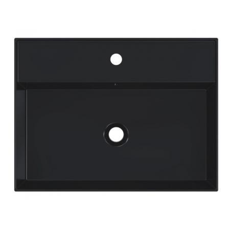 Riho Livit Glaze Top Umywalka wisząca lub meblowa 61x46 cm z otworem na baterię czarny mat F70004