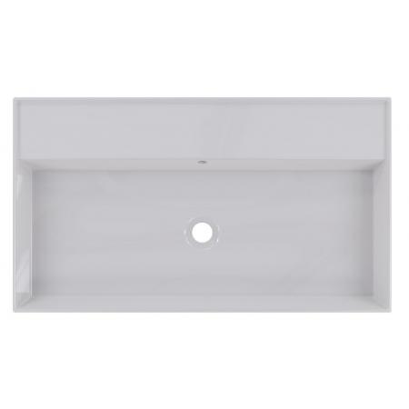 Riho Livit Glaze Top Umywalka wisząca lub meblowa 81x46 cm bez otworu na baterię biała F70005