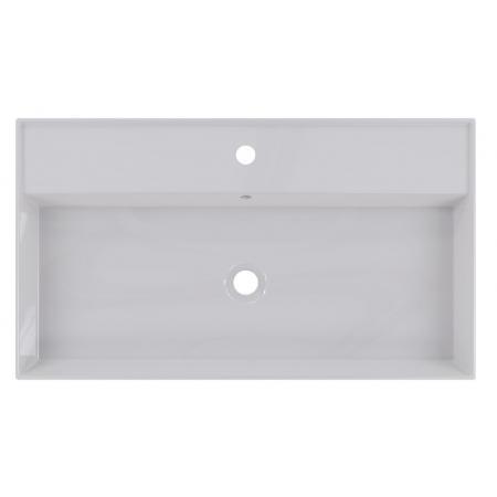 Riho Livit Glaze Top Umywalka wisząca lub meblowa 81x46 cm z otworem na baterię biała F70006