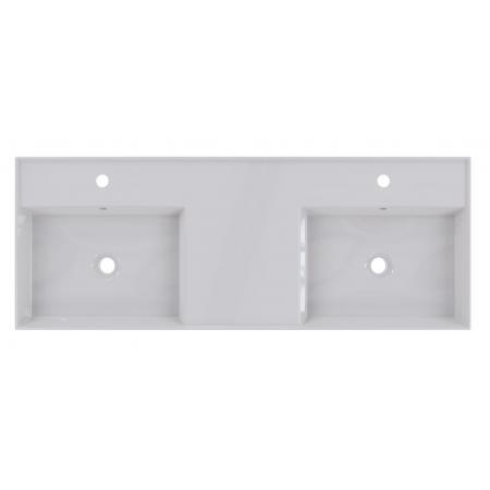 Riho Livit Glaze Top Umywalka wisząca lub meblowa podwójna 121x46 cm z 2 otworami na baterie biała F70020D